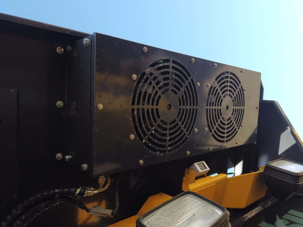 BreatheSafe system with compressor on Komatsu