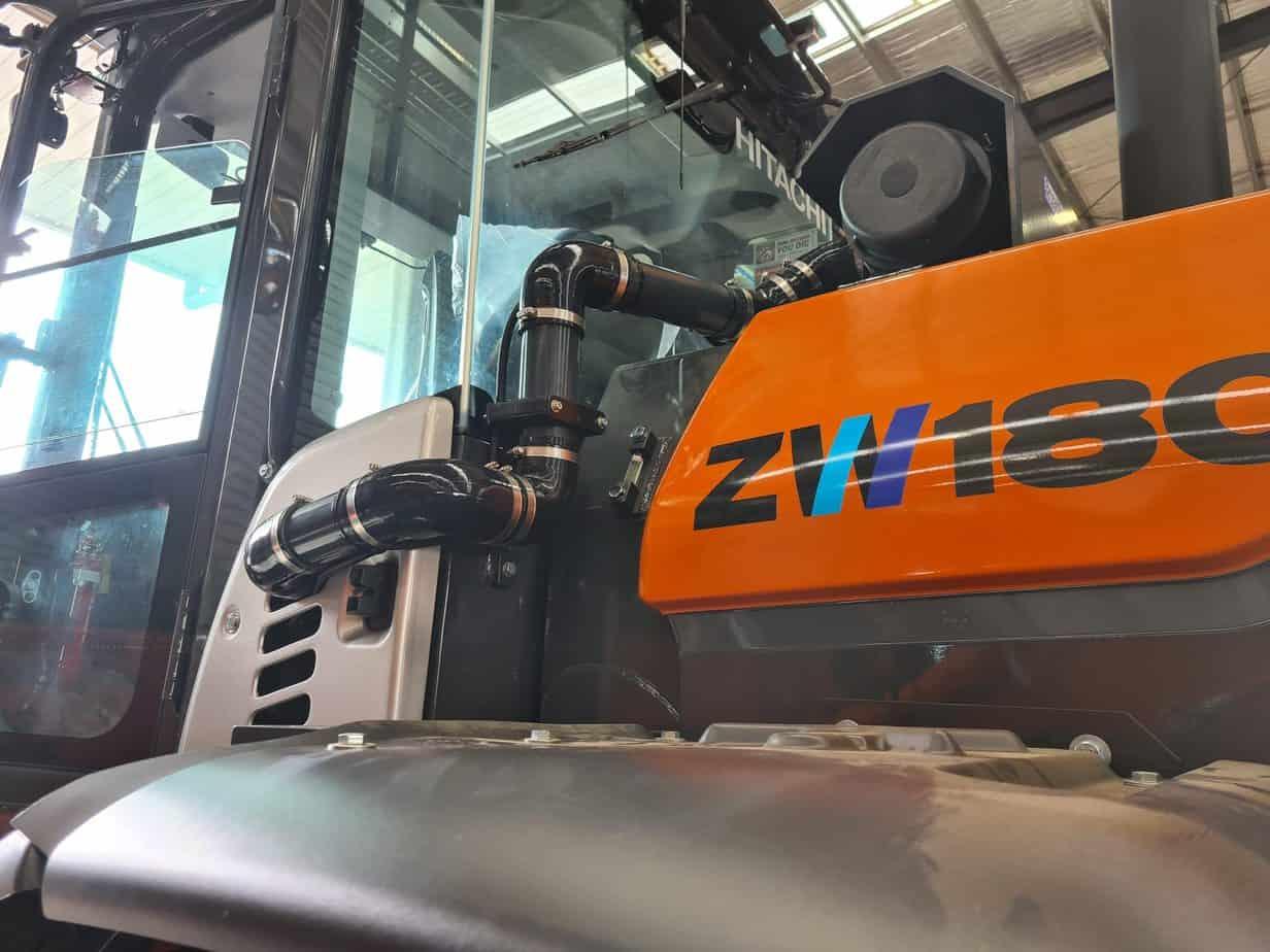 Hitachi ZW180 Loader with BreatheSafe system